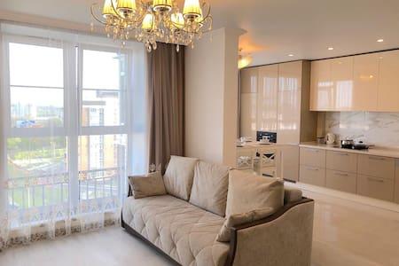 Светлые апартаменты в европейском стиле!