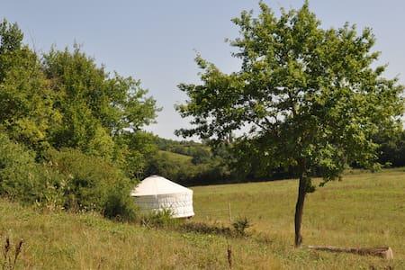 yourte en pleine nature dans centre équestre - Yurta