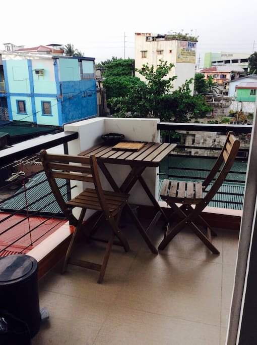 Relax at your own Balcony while having your breakfast and coffee/tea in the morning and snacks during late afternoon