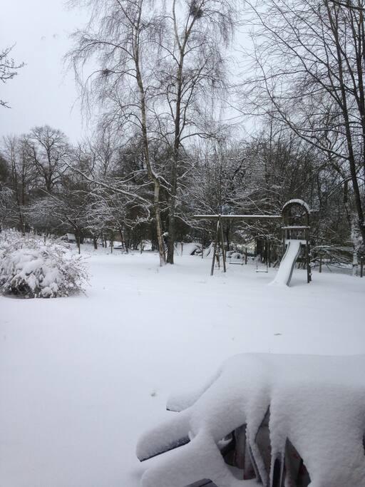 Façade arrière de la maison en hiver (16/01/2017)