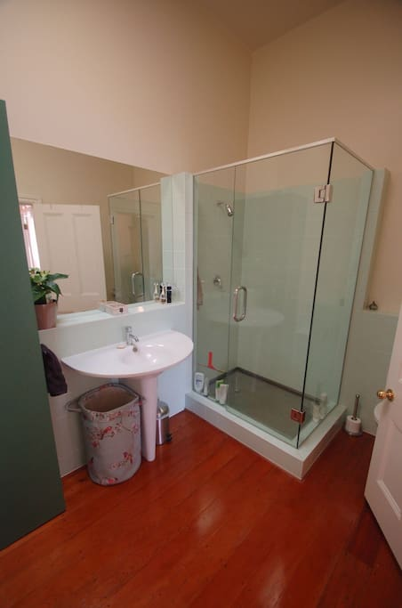 This is the shared bathroom (shower is amazing!)