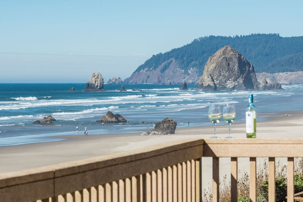 Gorgeous Cannon Beach and Haystack Rock views from the deck