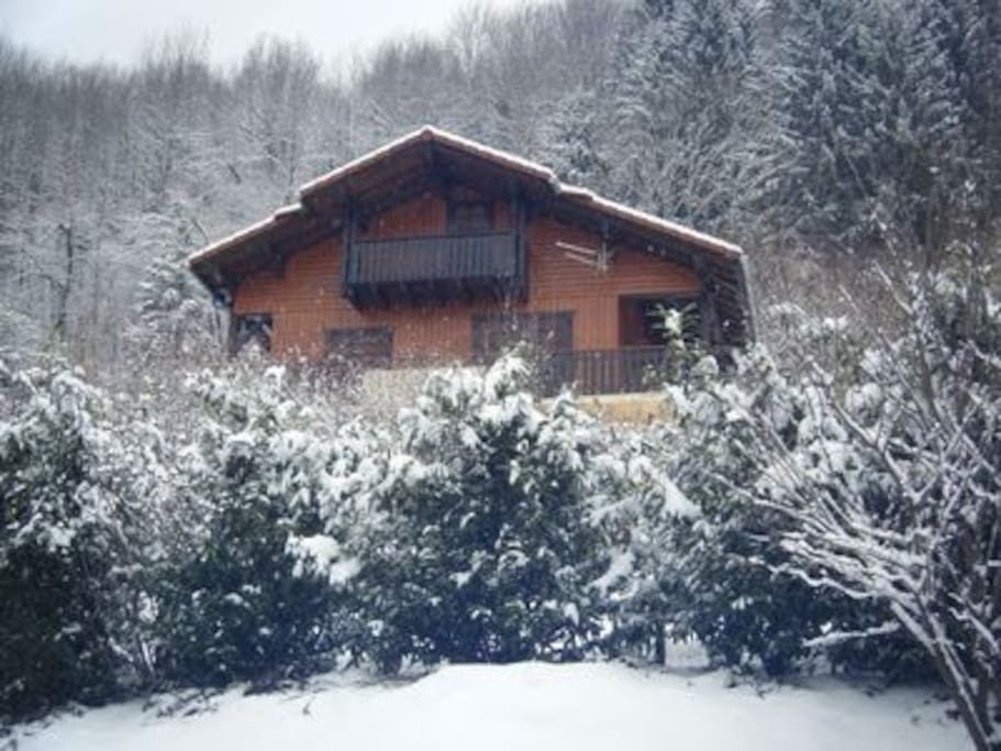 Chalet La Chenaz: Top position near ski bus + sensational views