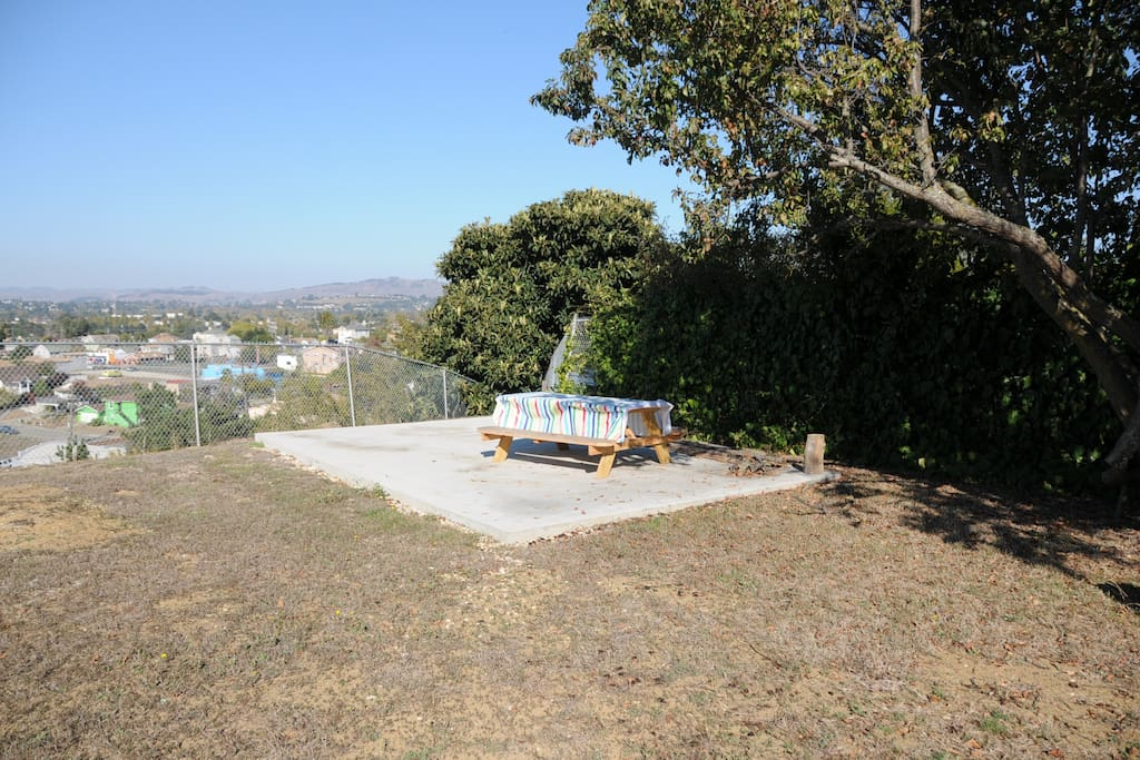 Picnic area out by the View line