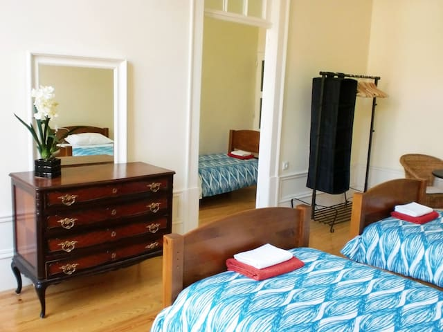 Private bedroom with 4 single beds (2nd floor)