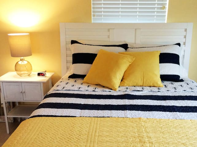 Comfy, clean, queen size beds in every cottage.