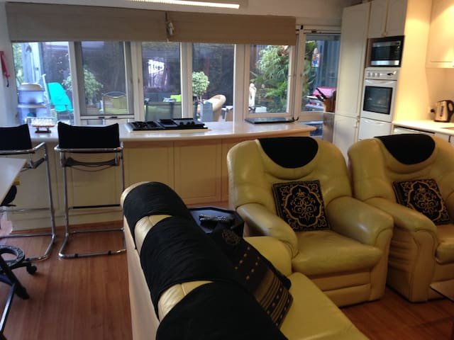 quality leather lounge in living area