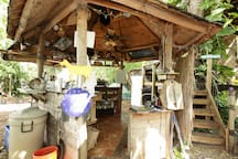 Communal kitchen shared by Treehouse guests
