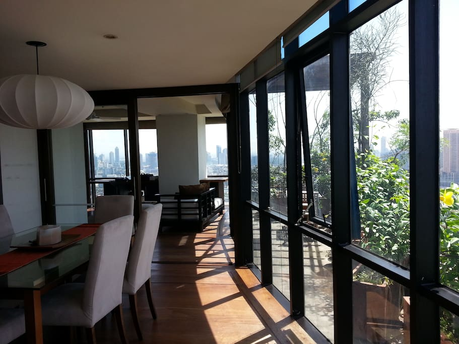 Dining Area with view to Balcony.