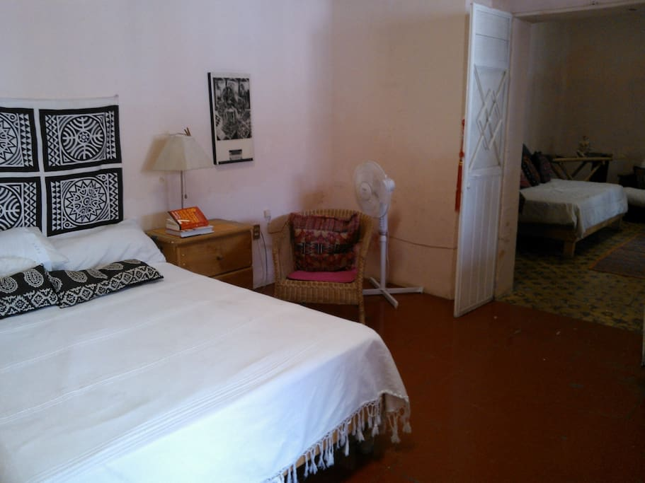 The main bedroom is really nice, I love it, and you have a full bathroom inside of the bedroom,