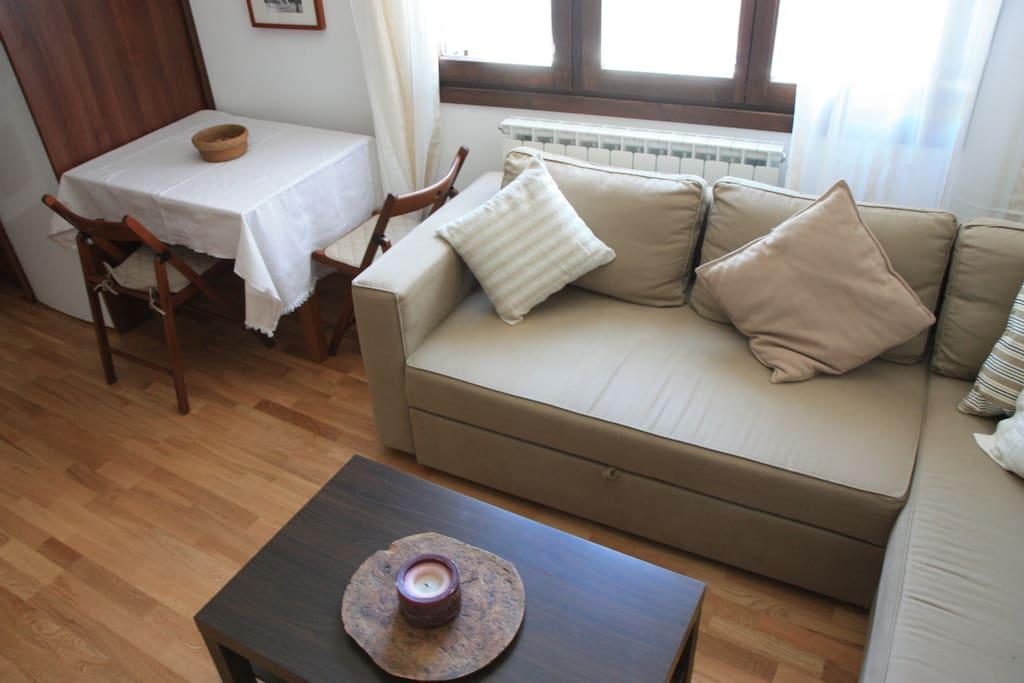 Sofá cama en el salón