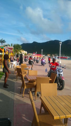 Motorcade on the boardwalk exhibition St.maarten's day.