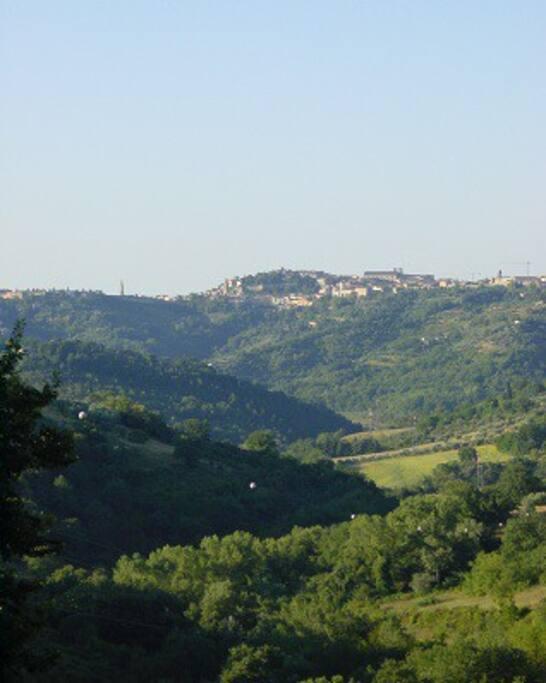 Veduta panoramica su Perugia