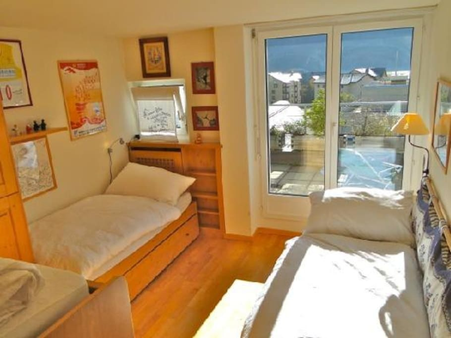 Bedroom with direct access to terrace