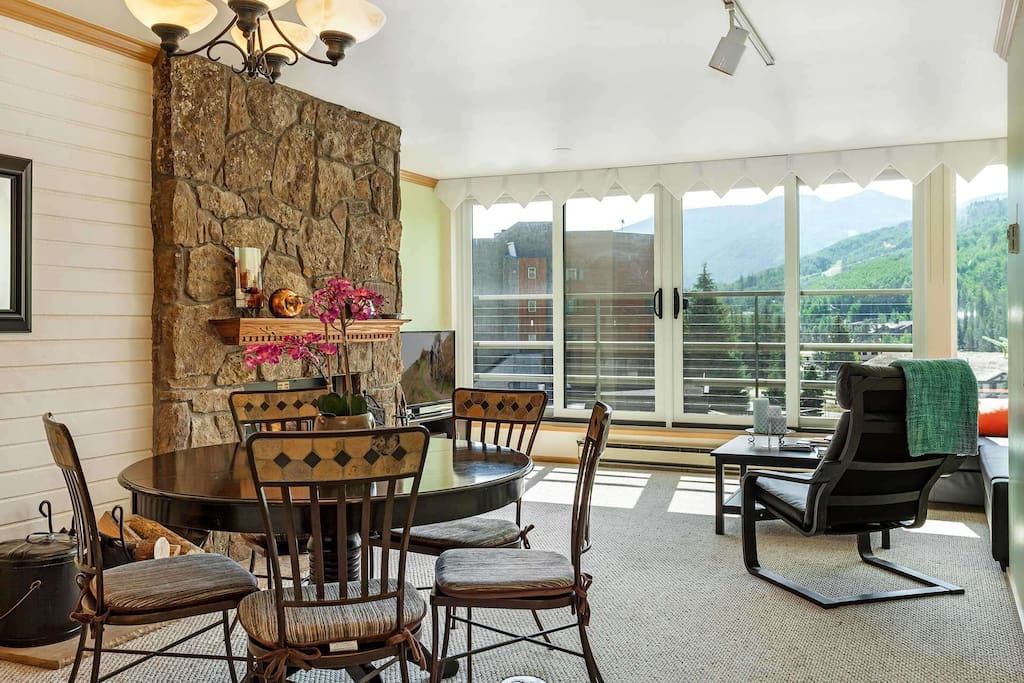 The open floor plan allows everyone to be together.