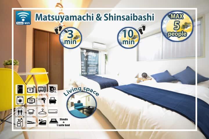New★Namba and  Dotonbori 10min,cozy best location!
