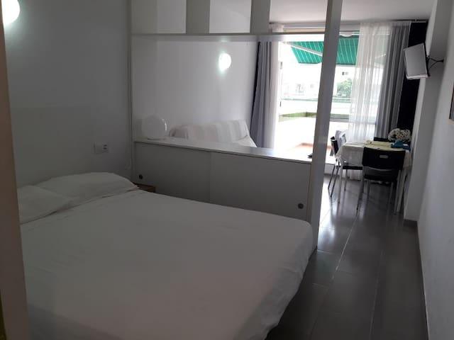 Vista de la habitación separado del resto
