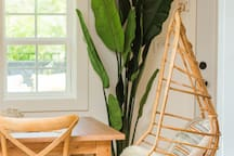 Hanging Chair in Dining Area