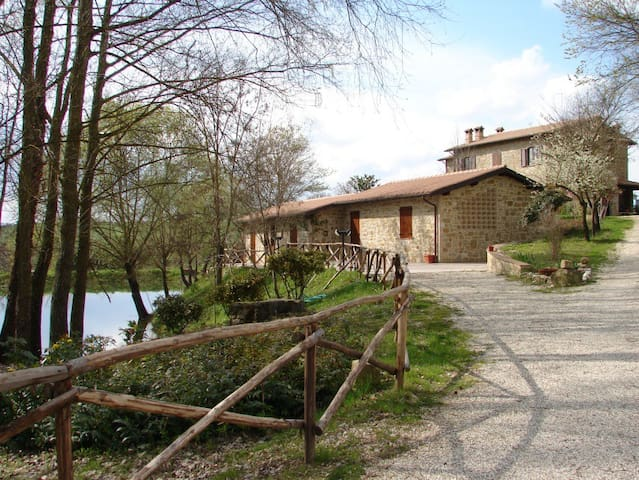 ROOMS&FLATS ON THE LAKE IN FARMHOUSE - Perugia - Apartment