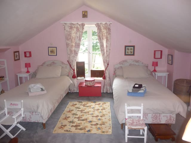 Chambres dans maison de maître - Nozay - บ้าน