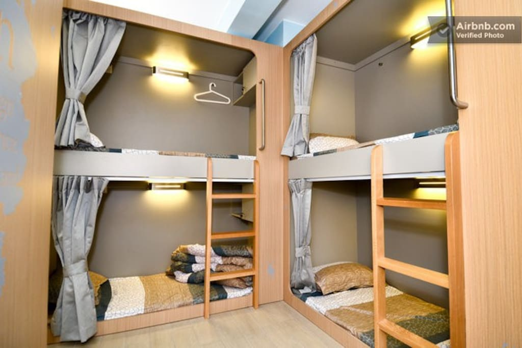 Stylish hostel bunk bed dorm 4 dorms for rent in hong for 4 bunk beds in a room