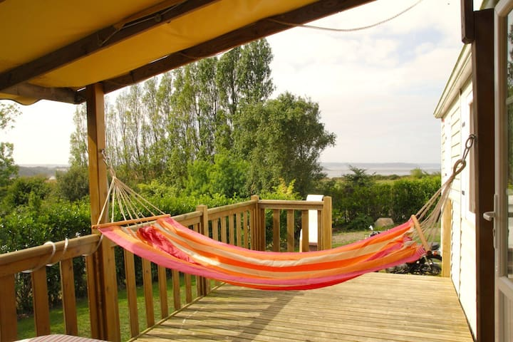 Mobilhome vue mer au calme - Morieux - Bungalow