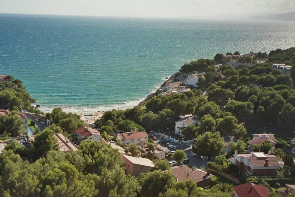 Blick vom Balkon über Cap Salou
