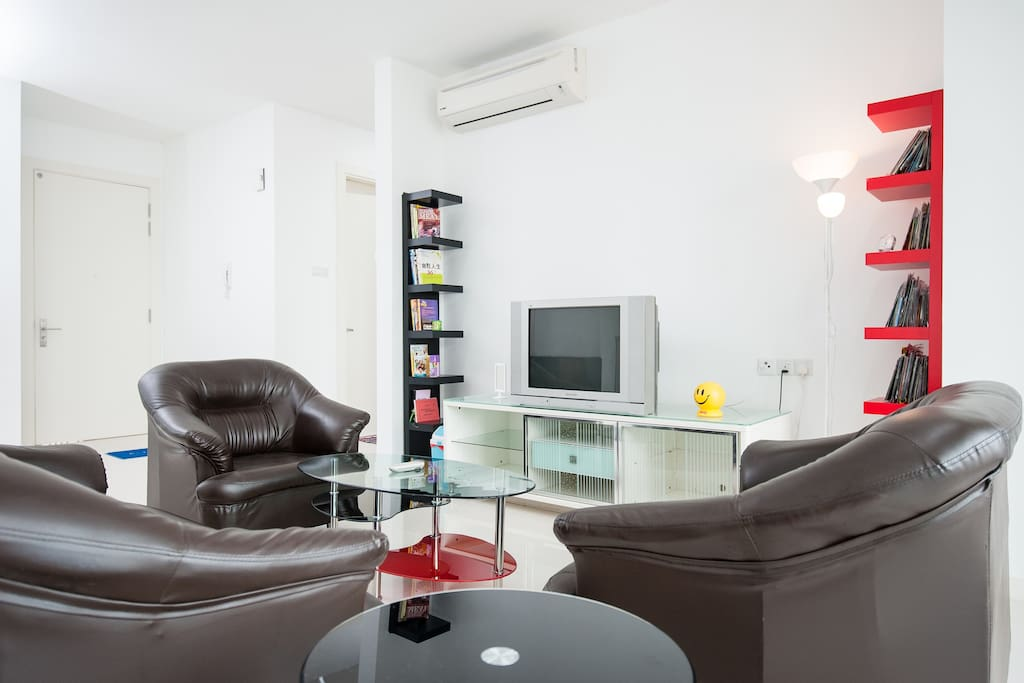 Living Hall - Book And DVD for Free Time In Living Room