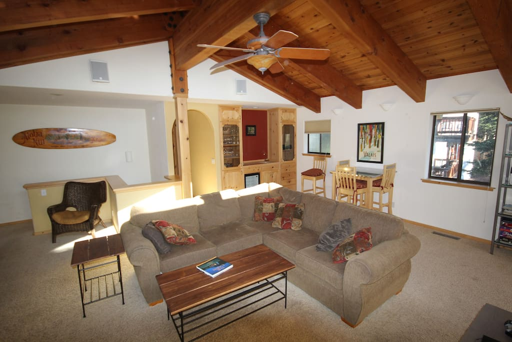 Living room open floor plan,