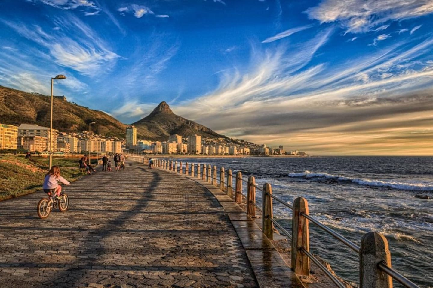 Sea Point Promenade - over the road from the apartment