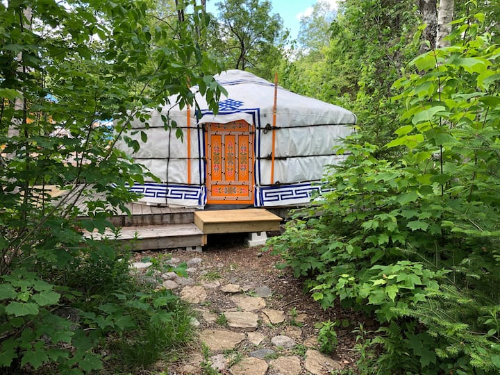 Tiger Yurt at Cabot Shores Wilderness Resort