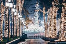 Spiritual night walk in Rustaveli avenue