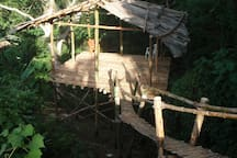 Our new bamboo tree house ... soon to be on airbnb once its finished.