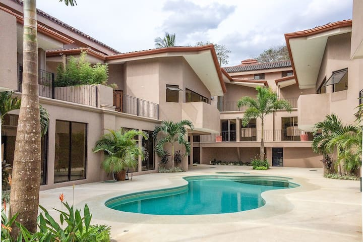 Spacious Costa Rican condo with shared pool & beach club access - close to town