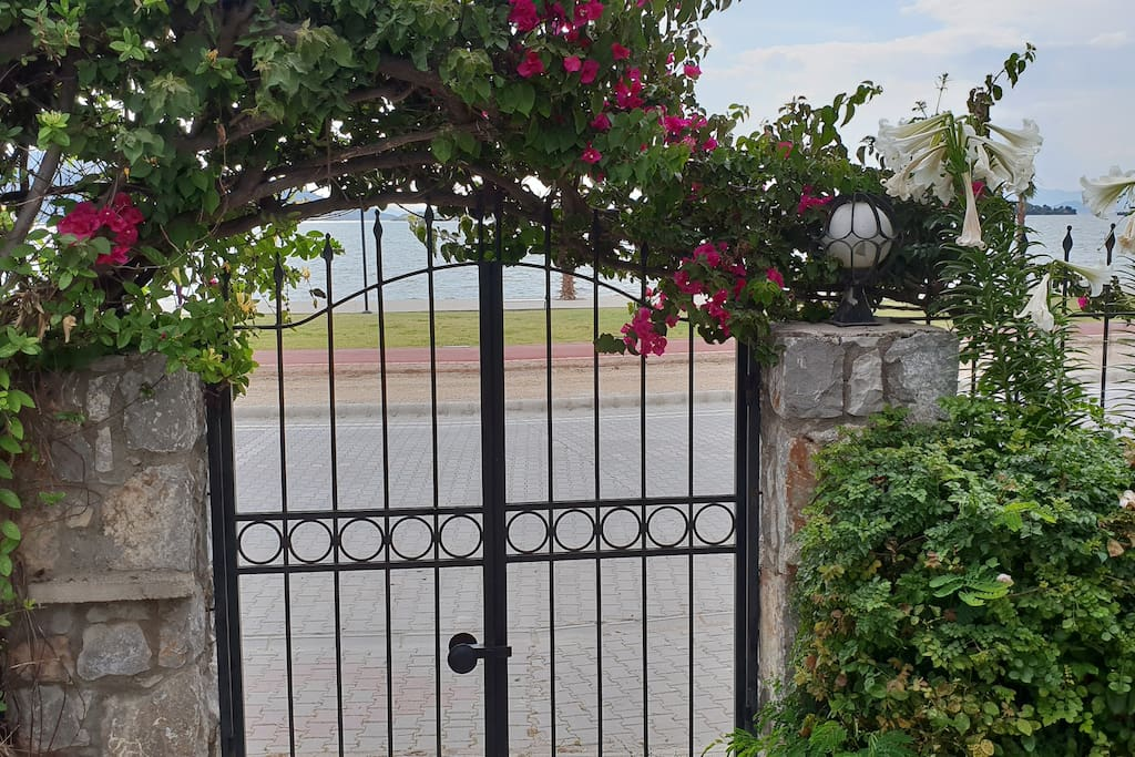 front gate and view to seashore