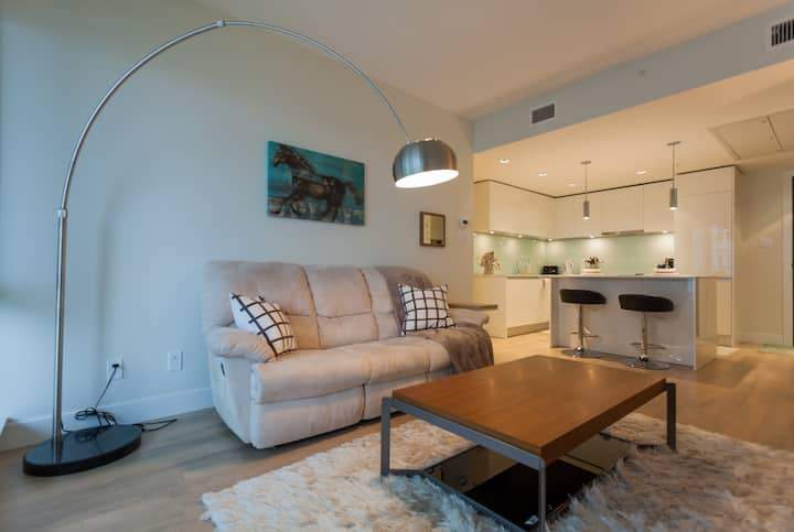 Modern Chic 1 Bed 1 Bath Condo + Parking