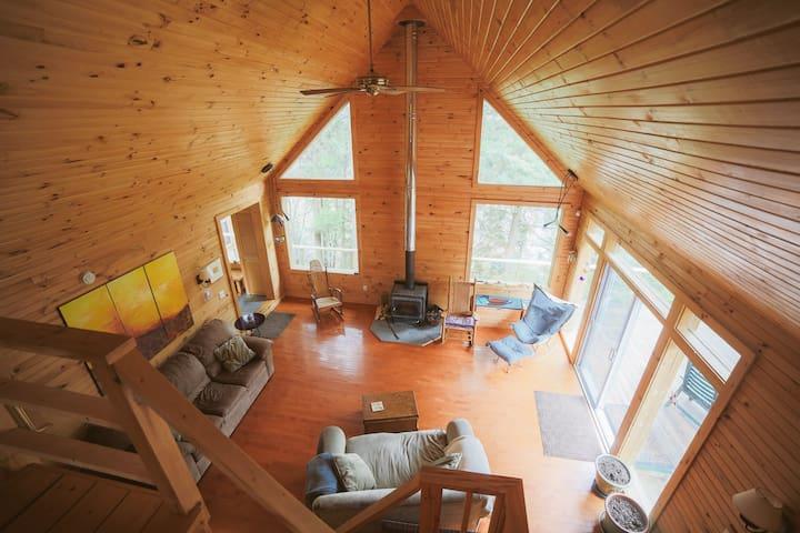 Serenity Falls Lodge | Jay VT | Private Brook