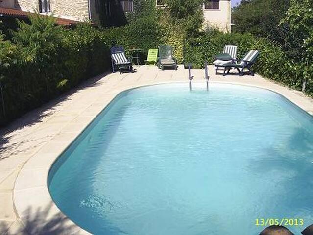 gite st michel avec piscine en Drôme des collines - Montchenu