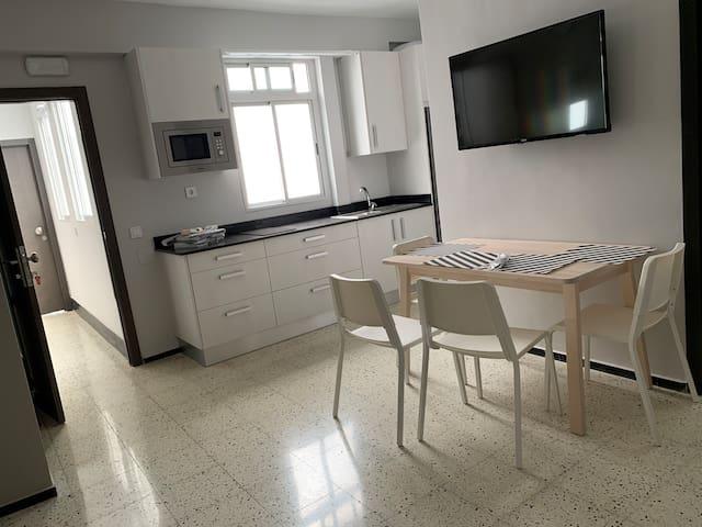 Apartamentos Mendizábal 20, Interior.