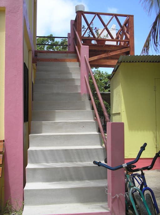 Stairs to upper Unit