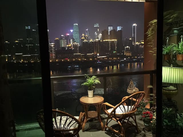 Lovely rooms wide Yangtse riverview at NanBin road - Chongqing - Apartament