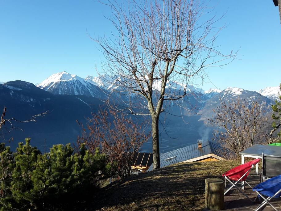 Point de vue magnifique depuis la terrasse
