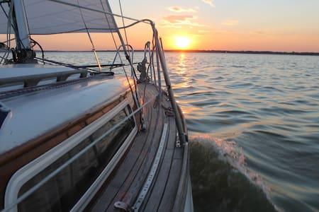 traumhaftes übernachten auf der Segel Yacht - Wunstorf - Båt