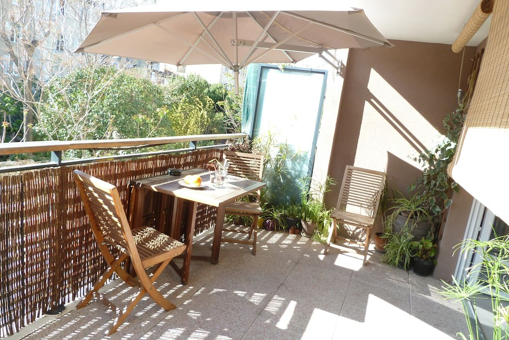 Appartement t3 belle terrasse parc longchamp for Location appartement marseille terrasse