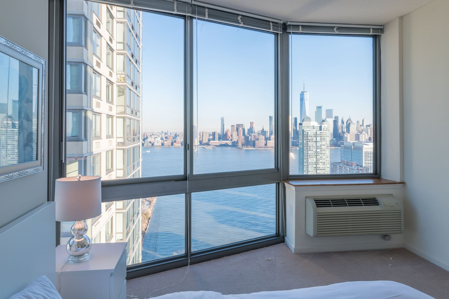 NYC skyline from master bedroom