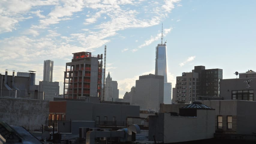 View from the roof: the new Freedom Tower - you can also see it from your room
