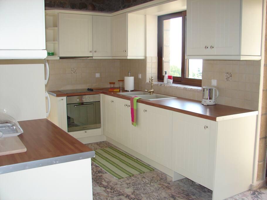 The kitchen........