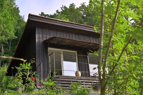 LaPauseEnSoi Cabane Lève-Tôt Vue Pyrénées Jacuzzi