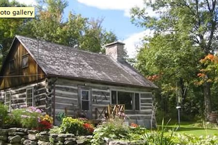 Log cabin on peak of Quebec Adirondacks -150 acres - Havelock - House