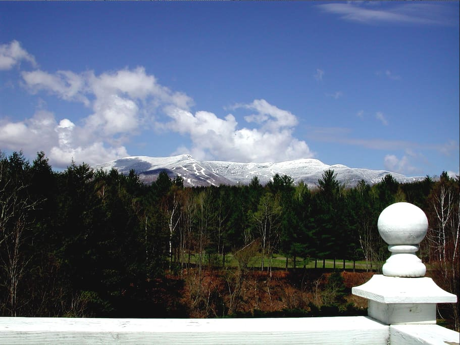 View of Stowe Skiarea from the deck